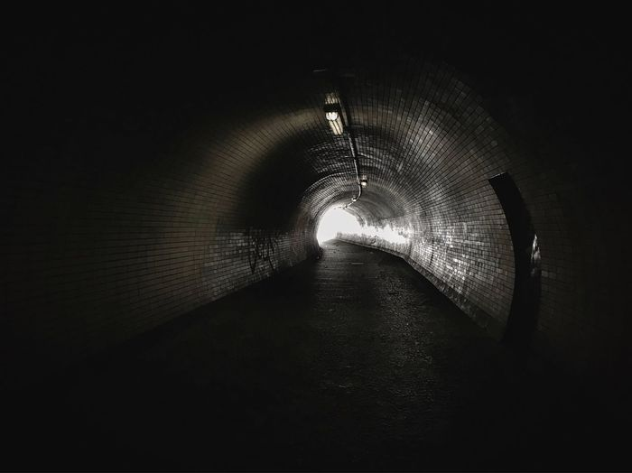 Diminishing Perspective Tunnel Tunnel Vision Black Tunnel I See The Light