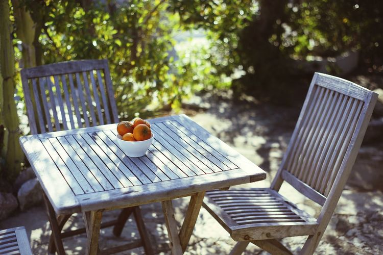 Food Fruits Fruit Table Day Outdoors No People Healthy Eating Nature Picnic Table Tree Dof Vacations Beauty In Nature Fragility Bokeh First Eyeem Photo Full Frame EyeEmNewHere Nature Food Plant Flower Tangerine Tangerines