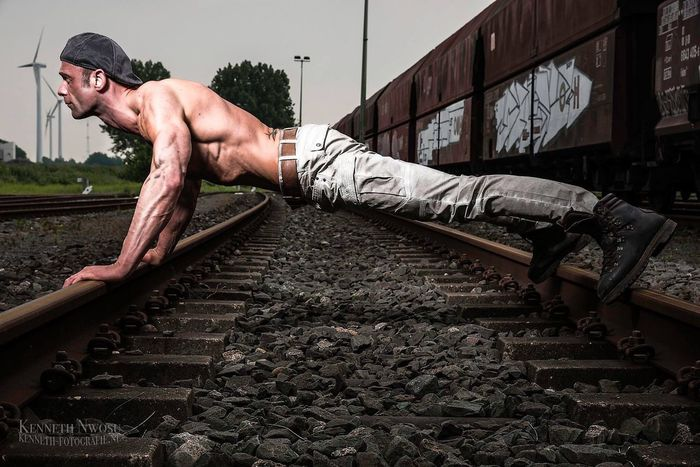 Fitness Fit Sixpack Body & Fitness Eye4photography  Train Tracks Muscles