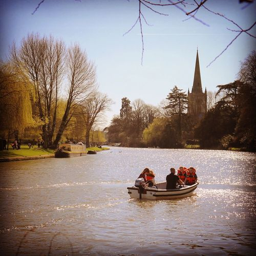 View down the river Stratford-upon-Avon Sunonthewater Boat