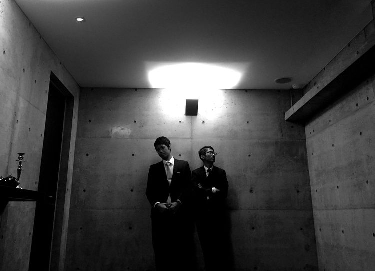 Men in Black Two People Men Day Japan Japan Photography Photography Real People Mockery MOVIE Jacket