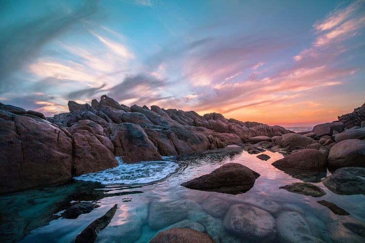 Western Australia Western Australia Travel Destinations Sky Cloud - Sky Scenics - Nature Environment Beauty In Nature Landscape Water Sunset Idyllic Travel