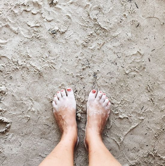 Caucasian woman with painted toe nails standing on a clear white beach in Panama. Square Adult Adults Only barefoot Beach Day High Angle View Human Body Part Human Foot Human Leg IPhoneography Low Section Mobile Photography Nail Polish Nature One Person One Woman Only Only Women Outdoors People Real People Sand Standing Summer Travel Destinations Vacations Water Women