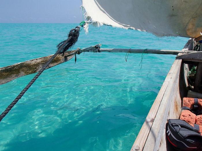 Sailing in Zanzibar Adventure Dhow Dhowcruise Enjoying Life Hobbies Leisure Activity Lifestyles Recreational Pursuit Sailing Sea Vacations Water Weekend Activities