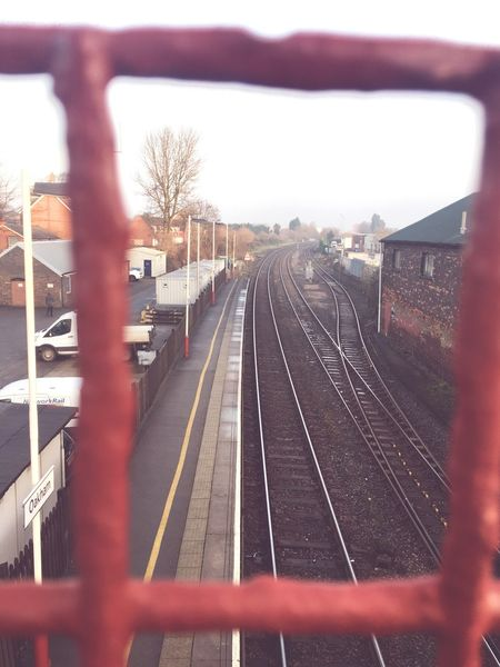 Coming for you Sheffield 👀 Transportation Rail Transportation Railroad Track Railroad Station Platform Public Transportation Railroad Station Train - Vehicle No People Outdoors City Day Sky EyeEm