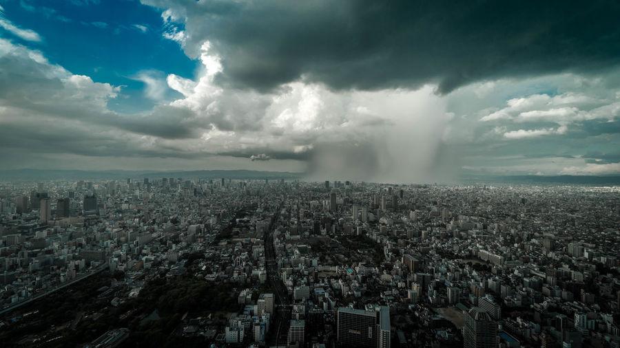 ゲリラ豪雨 A6300 Architecture City City Life Cityscape Cloud Cloud - Sky Cloudscape Cloudy Japan Nature Sel1018 Sky Skyscraper Son Storm Wide Shot α6300 あべのハルカス ゲリラ豪雨 ハルカス300 大阪