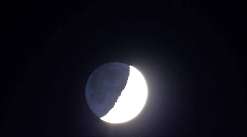 Astronomy Beauty In Nature Half Moon Moon Nature Night No People Sky