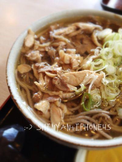 珍しく蕎麦。 IPhoneography Lunch Noodles
