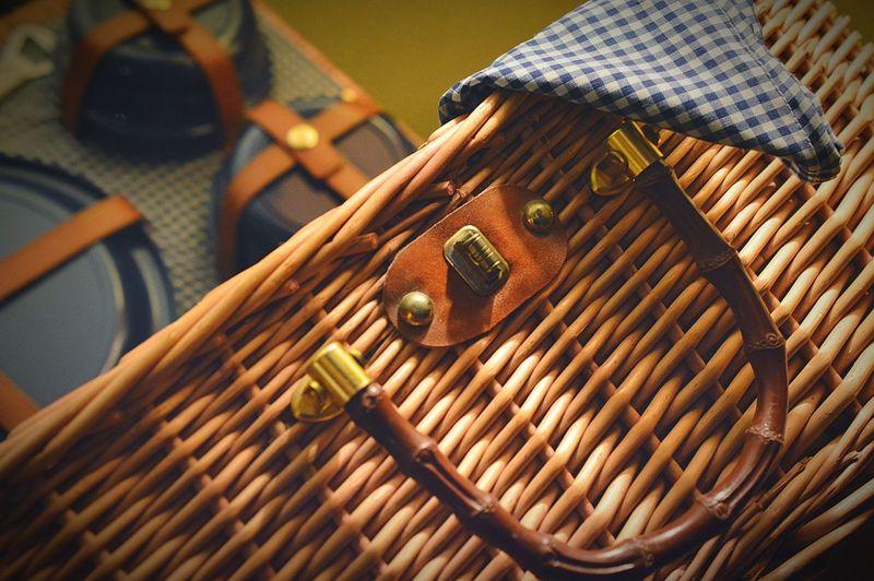 Tilt image of picnic basket
