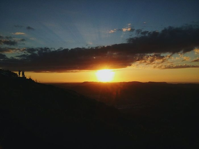 Sunset Sunshine Mountain Mountain View Excercising Sun Nature Sky And Clouds Sport Escaping