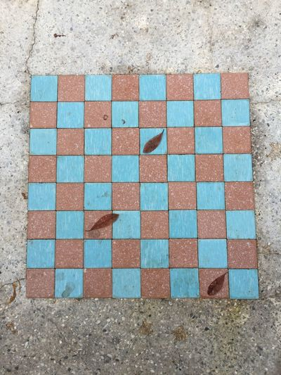 Chessboard Chessboard Pieces Chessboard Tile Multi Colored Checked Pattern Square Shape Pattern No People Mosaic Close-up Color Swatch Outdoors Architecture Textured  Day Chess Board