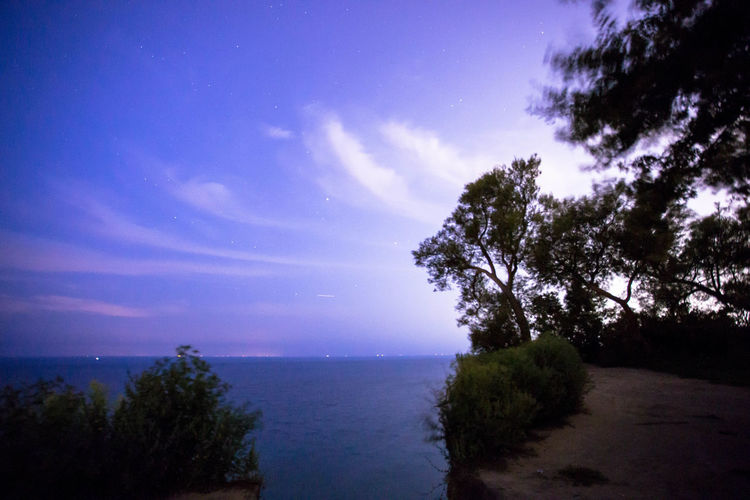 Scarborough Bluffs Toronto Beauty In Nature Blue Day Horizon Over Water Landscape Long Exposure Nature No People Outdoors Scenics Sea Sky Toronbto Tranquil Scene Tranquility Tree Water