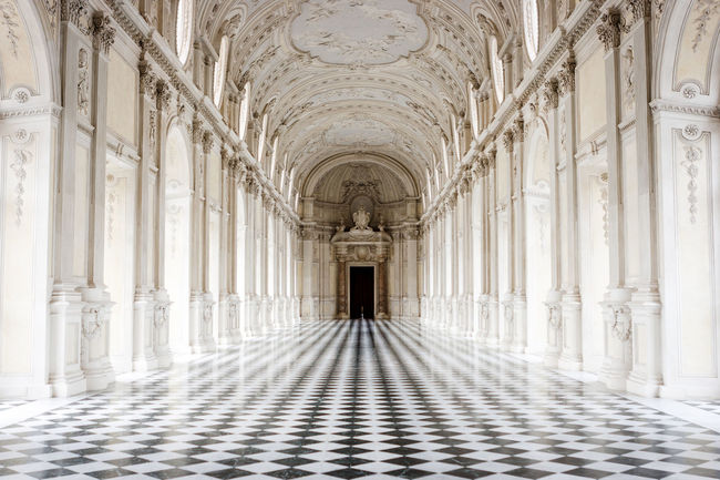 Italia Piedmont Italy Piemonte Arch Architectural Column Architecture Built Structure Corridor Day History Indoors  Italy Marble No People Piedmont Reggia Symmetry Travel Destinations Venaria Reale