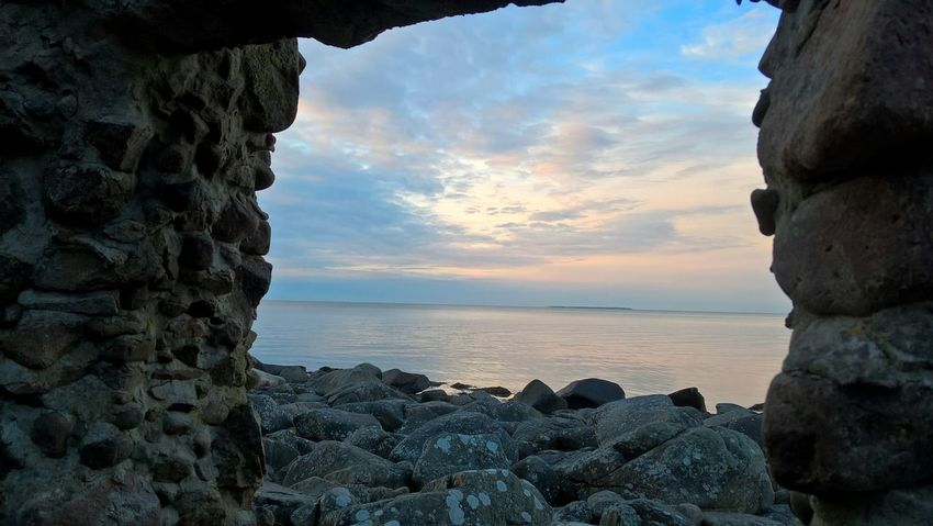 Sea Sunset Rock - Object Beach Horizon Over Water Cloud - Sky Sky Nature Summer Water Outdoors Tranquility Beauty In Nature Scenics No People Landscape Blue Travel Destinations Day Sweden Nimis Ladonia Ocean View EyeEmNewHere