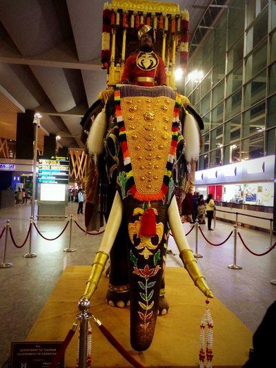 Culture Art Bangalore International Airport (null)Night