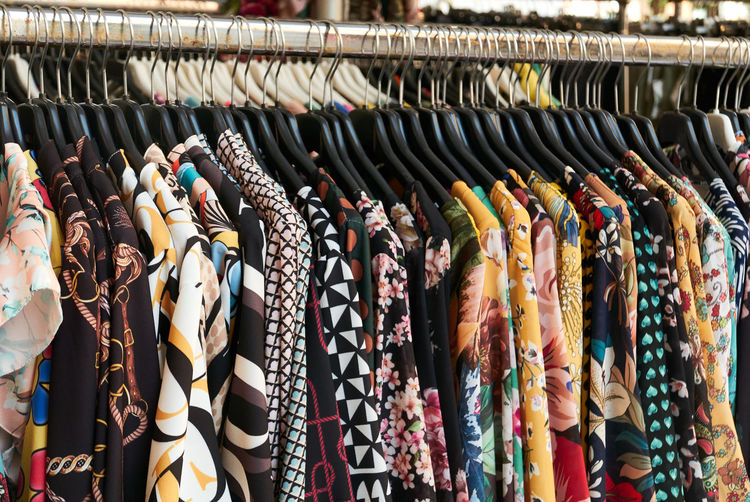 Retail  Choice Variation Large Group Of Objects Shopping Indoors  For Sale Arrangement Coathanger Rack Store Retail Display Fashion Clothing No People In A Row Business Multi Colored Side By Side Small Business Sale Order Consumerism Boutique Menswear