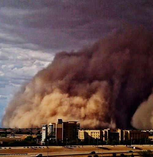 Dust Storm Cloud - Sky Urban Skyline Outdoors Sky Storm Cloud Nature Cityscape No People City