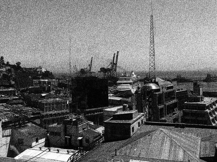 bahia de valparaiso Architecture Barroco Austral Blackandwhite Photography Brick Wall Building Exterior Built Structure Damaged Deterioration Heritage Building House Old Residential Structure Valparaiso, Chile Wall Wall - Building Feature
