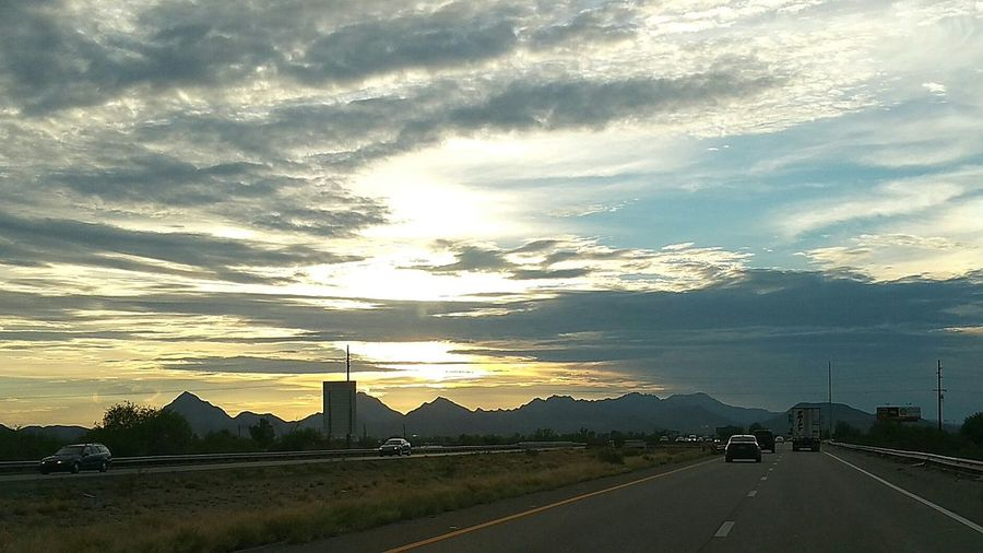 My view on tonights drive Mountains Tucson Arizona  Mydrivehome Tucson Arizona Sunset_collection Sunset