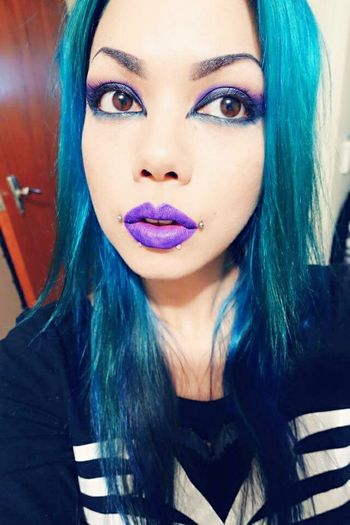 I forgot I had this app... Hi everyone...I'll try to actually use this app regularly... Selfie Blue Hair Turquoise Turquoise Hair Makeup Me Aishadiandra First Eyeem Photo