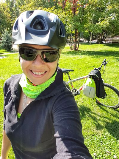 🚴♀️🚴♀️🚴♀️ Biker mood on ! Newhobby Myhobby Smile EyeEm Best Shots EyeEm Nature Lover Nature Nature_collection Biker Portrait Golf Smiling Sport Happiness Looking At Camera Cycling Helmet Cycling Bicycle Pedal Riding