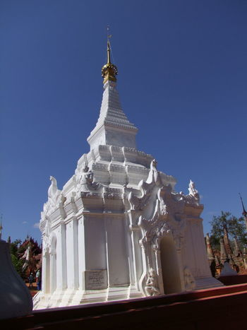 Remodelled Old Stupa Blue Sky Buddhism Buddhism Culture Buddhist Architecture Buddhist Stupa Composition Inle Lake Kakku Modern Structure Myanmar No People Outdoor Photography Place Of Prayer Place Of Worship Religion Shan State Sunlight And Shade Tourism Tourist Attraction  Tourist Destination Tree White Colour