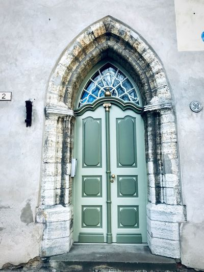 Door Baltic Countries Tallinn Estonia Architecture Tallinn Old Town Tallinn Estonia Built Structure Architecture Entrance Door Building Building Exterior No People Security Doorway Closed Protection Outdoors House Wall Day Old Window Wall - Building Feature Arch