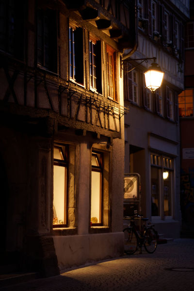 Night fell Architecture Built Structure Building Exterior Building Illuminated Transportation City Window Street Residential District Night Lighting Equipment No People Mode Of Transportation Land Vehicle Outdoors Bicycle Stationary Architectural Column