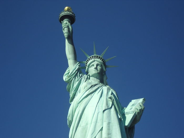 Statue of liberty against clear sky
