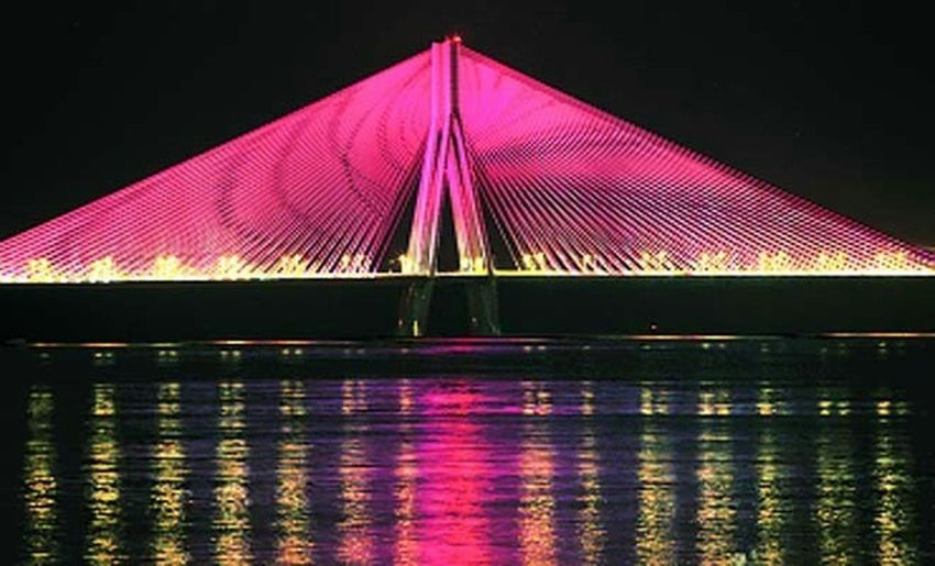 Nightscape Thebest❤️ Hangout!  Bandra Worli Sea Link Night View Mumbai_in_clicks Bandra Memories ❤ Summer 2k14
