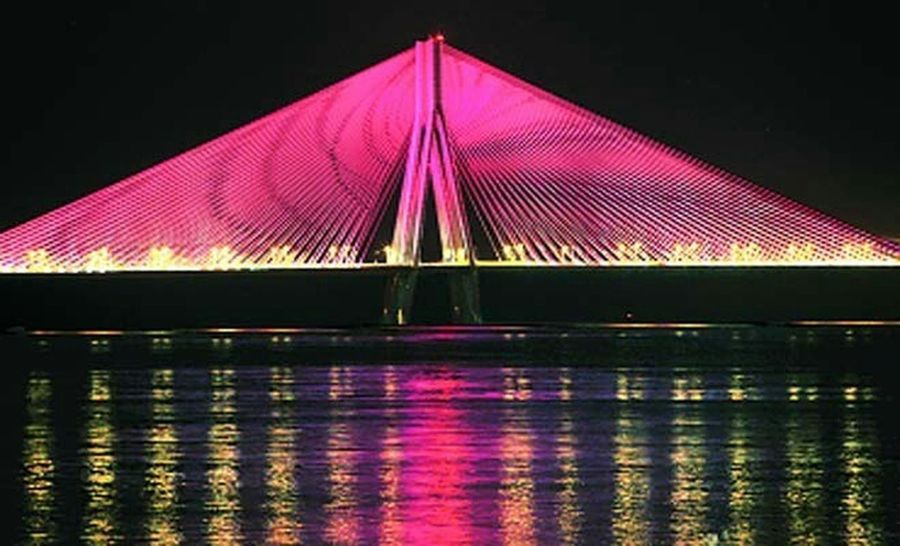 Nightscape Thebest❤️ Hangout!  Bandra Worli Sea Link Night View Mumbai_in_clicks Bandra Memories ❤ Summer 2k14