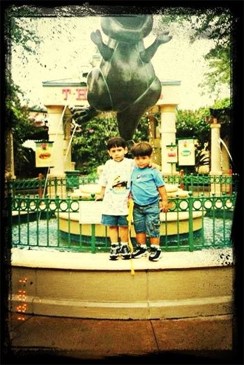 Me and my Bro when we was little .