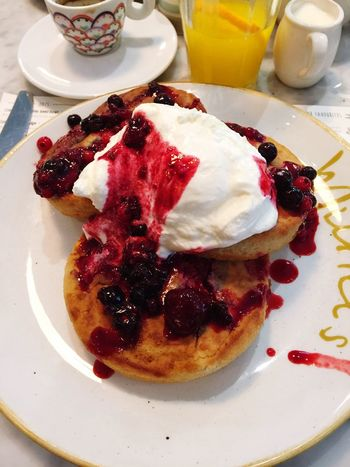 Food Dessert Sweet Food Food And Drink Pancake Syrup Tasty