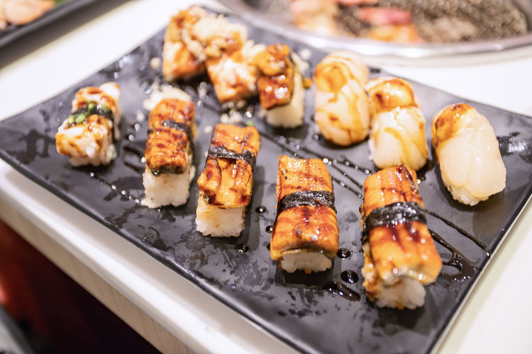 Asian Food Close-up Focus On Foreground Food Food And Drink Japanese Food Rice Seafood Sushi Tray EyeEmNewHere