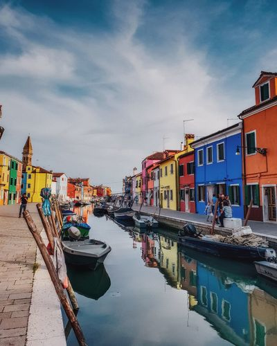 I close my eyes and see pretty colors, They're dancing just for me... pretty colors. Italy Italia Photo Of The Day EyeEm Best Shots EyeEmNewHere Eye4photography  Photography Photooftheday River EyeEmBestPics Eyeemphotography Summer Landscape Landscape_Collection Landscape_photography Street EyeEm Selects Water Nautical Vessel Harbor Moored Sea Reflection Multi Colored Beach Sky Building Exterior Boat Canal Dock Port Waterfront Building