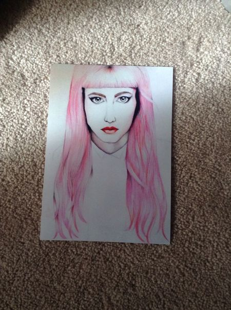 A 5x8 in print of grimes portrait! My Art Pretty Girl Drawing Taking Photos