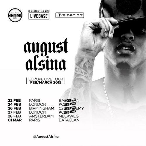 Of course i wouldnt have missed dat 😜✌ C ya tonight on stage 🎤🎤🎤 AugustAlsinaTestimonyTour Testimonytour AugustAlsina Show bataclan yungin