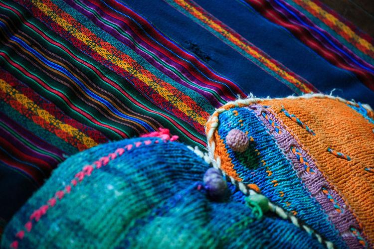 Close-Up Of Multi Colored Fabric