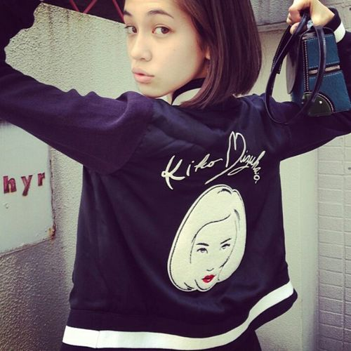 Fashion Model Kikomizuhara Kiko Mizuhara Style Shorthair Street Fashion Streetstyle Urbanstyle Urban Fashion Photography Beauty Gorgeous Aesthetics Natural Beauty Bomber Jacket Bomberjacket