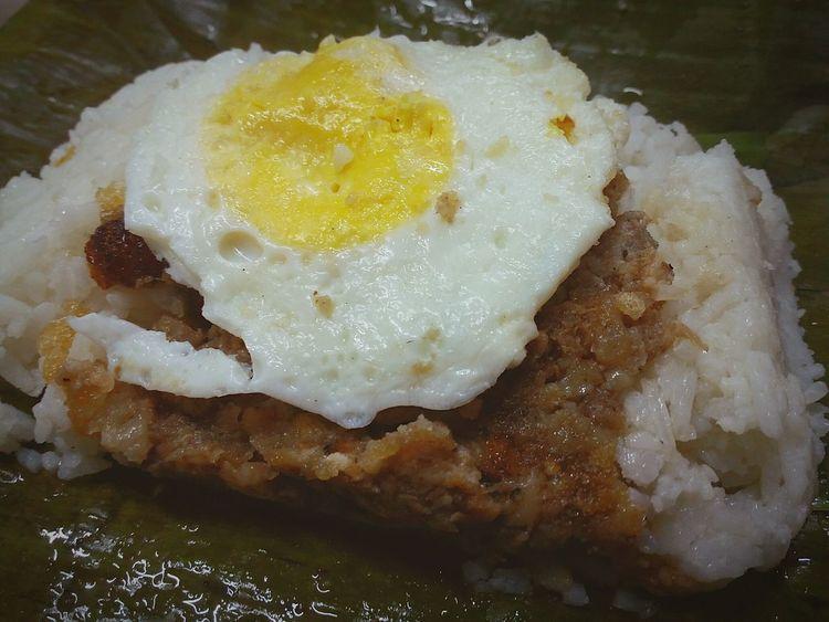 Binalot - 365 days photo challenge 07.07.16 Dinner Egg Fried Egg Sisig Sisigwithegg Ricetoppings Binalot Food Take Out Food