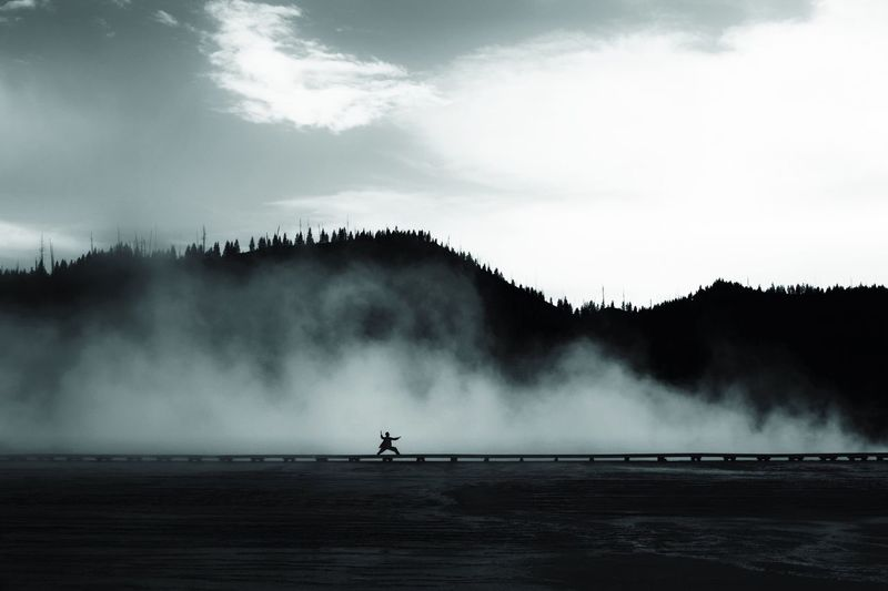 The Following Yellowstone Steam USA Girl Karate Martial Arts Geyser Mist