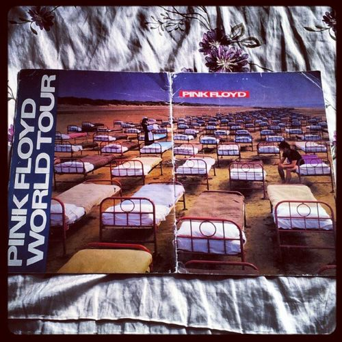 'So many amazing memories- this is an original program from Pink Floyd's 1987-88 'Momentary Lapse of Reason' World Tour, i was very lucky to have seen them live twice on this tour' Pinkfloyd Worldtour MomentaryLapseOfReason Davidgilmour RichardWright NickMason Memorabilia 1987 1988 igscout igtube igaddict Igers igdaily instagood instagrammers