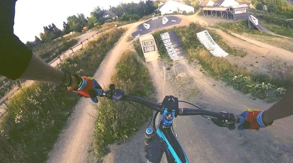 BIKEPARK Jump Bicycle On The Move Mountain Bikepark Dirt Downhill Gopro Goprohero4 Goprooftheday POV