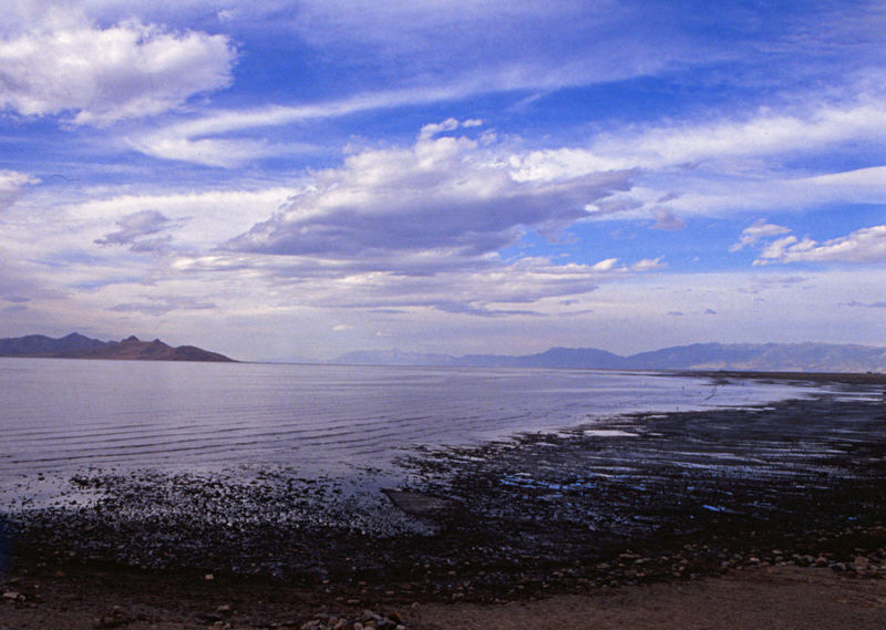 Great Salt Lake Sea Cloud - Sky Landscape Tourism Scenics Nature Beach Outdoors Beauty In Nature Travel Destinations No People Mountain Sky Extreme Weather Day