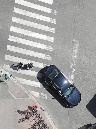 Crossing the street Pedestrian Car Mobility In Mega Cities Traffic Mega Cities Street Outdoors City