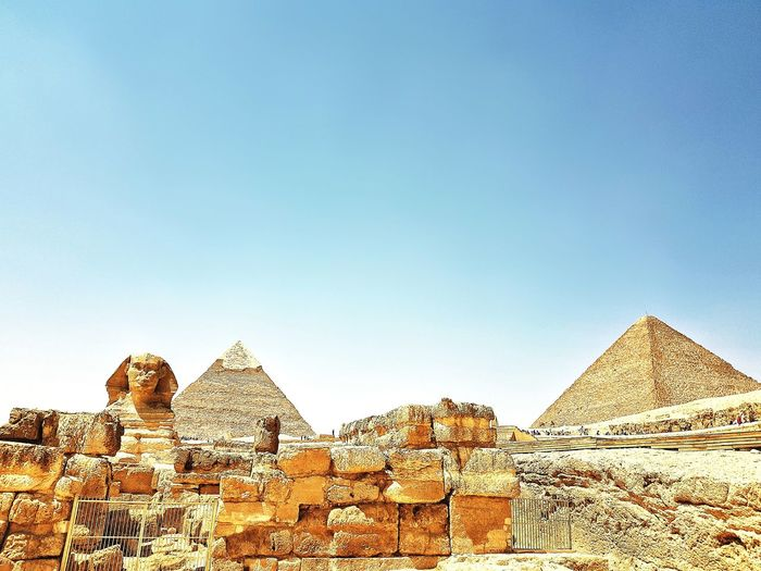 Pyramid History Travel Destinations Ancient Triangle Shape Architecture Ancient Civilization Travel Old Ruin Built Structure Sky No People Outdoors Day Egypt Cairo GalaxyS8+ King - Royal Person Pyramid Ancient