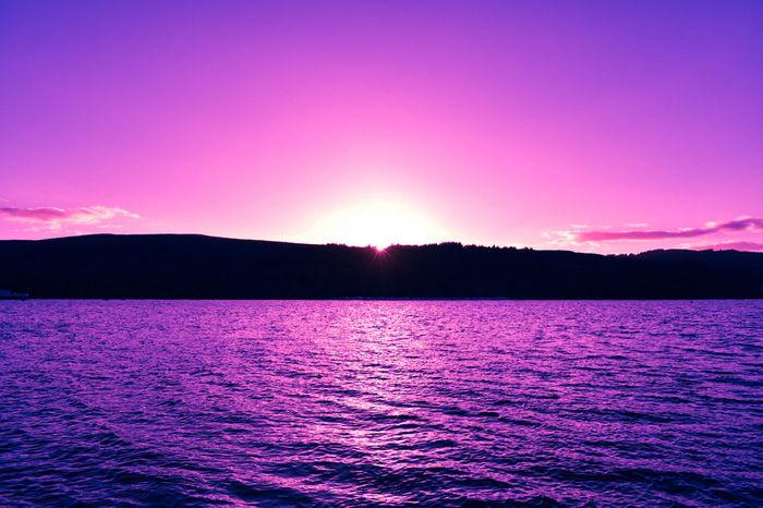 EyeEm Nature Lover EyeEm Selects EyeEm Gallery Eyeemphotography EyeEm Best Shots Eyeem Weekly Astrology Sign Lake Water Pink Color Sunset Purple Sky Magenta