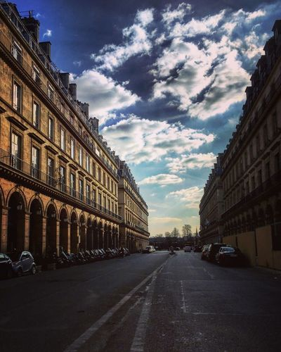Buildings Perspective Architecture Architectural Detail City Cityscape Street Streetphotography Paris 1er Nobody Empty Sky And Clouds Mmaff From My Point Of View Eye4photography  EyeEm Gallery