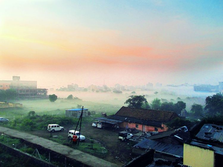 Morning Foggy Foggy Morning Countryside Red Morning Freshness Calmness Great Outdoors - 2016 EyeEm Awards The Traveler - 2018 EyeEm Awards