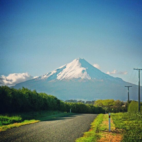 Mt. Taranaki Mountain Vulcano Ic_landscapes Fabscabe Hot_shotz Fabtheme_blue Fabtheme